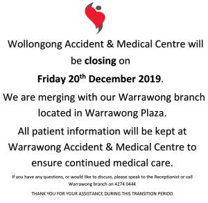 Wollongong Closing Down